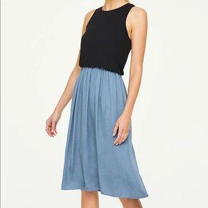 Ann Taylor Loft Teal Knit Duet Midi Dress Sz SP